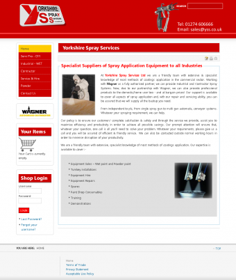 Yorkshire Spray Services Website Thumbnail